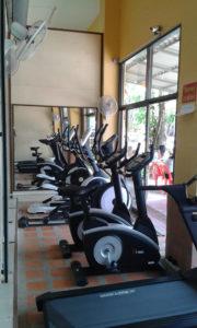Treadmill, bikes, cross-trainers
